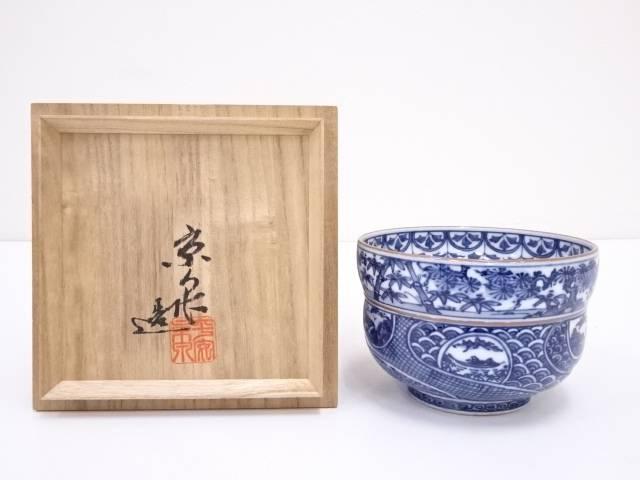京焼 京泉造 色入祥瑞茶碗