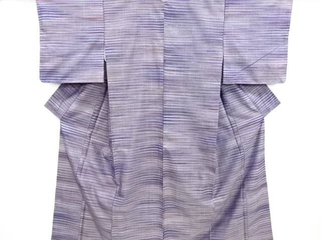 未使用品 横段織り出し手織り節紬着物【リサイクル】【中古】