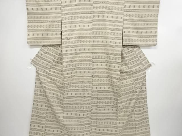 本場琉球絣手織り真綿紬着物【リサイクル】【中古】
