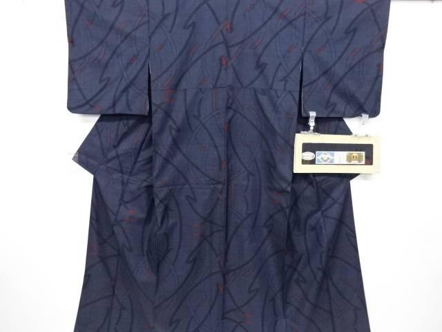 かづら帯模様織り出し本場泥大島紬着物アンサンブル(5マルキ)【リサイクル】【中古】