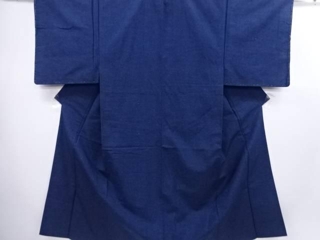 手織り節紬男物着物アンサンブル(キングサイズ)【リサイクル】【中古】