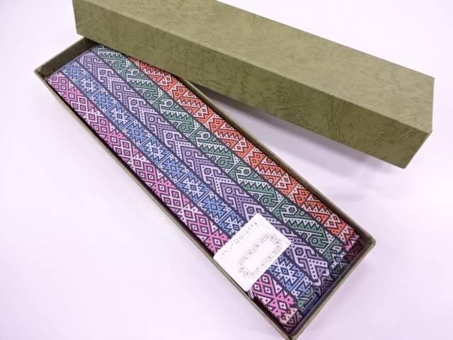 龍村美術織物製 チャンカイの巳男物角帯【q新品】