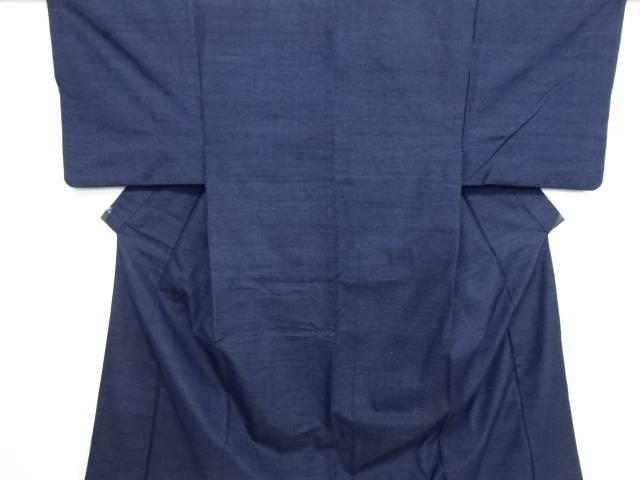 手織り真綿紬男物着物アンサンブル 長襦袢セット【リサイクル】【中古】