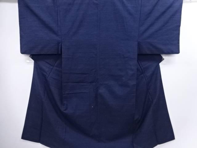 三崩し織り出し手織り真綿紬男物着物アンサンブル・長襦袢セット【リサイクル】【中古】