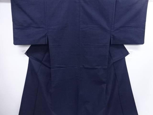 手織り節紬男物着物アンサンブル・長襦袢セット【リサイクル】【中古】