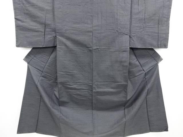 亀甲絣織り出し西陣お召し男物着物アンサンブル【リサイクル】【中古】