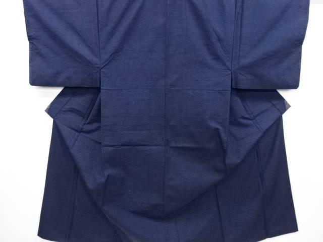 手織り真綿紬男物着物アンサンブル長襦袢セット(キングサイズ)【リサイクル】【中古】