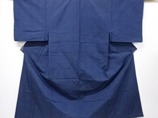 未使用品 縞織り出し手織り紬男物着物アンサンブル【リサイクル】【中古】