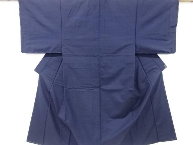 未使用品 手織り節紬男物着物アンサンブル(キングサイズ)【リサイクル】【中古】