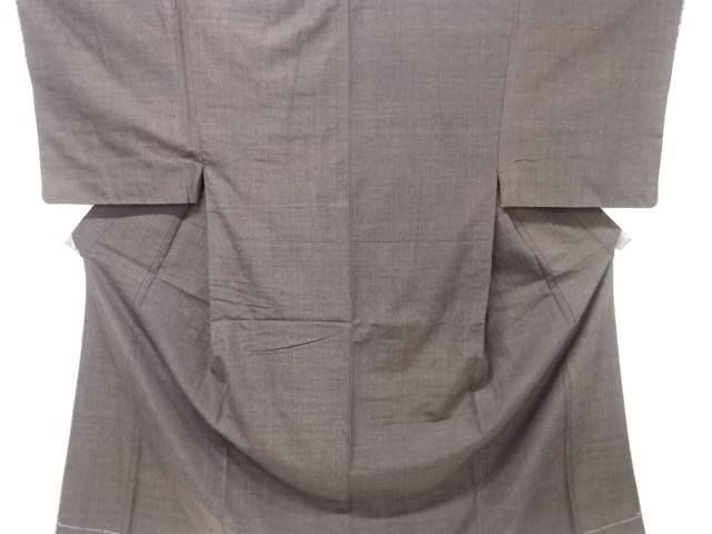 未使用品 本場結城紬男物着物アンサンブル(結)(長身キングサイズ)【リサイクル】【中古】