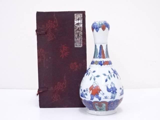 景徳鎮製 五彩人物文花瓶