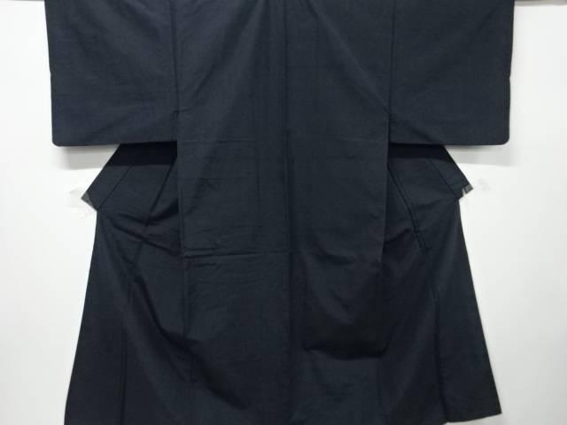 縞織り出し手織り紬男物着物アンサンブル【リサイクル】【中古】