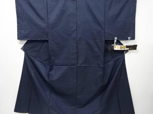 未使用品 仕立て上がり 本場泥大島紬100亀甲男物着物アンサンブル・長襦袢セット(長身サイズ)