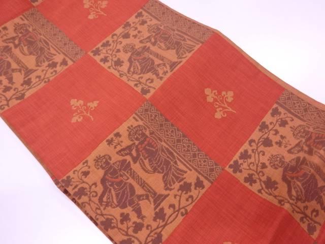 未使用品 木屋太製 古代人物模様織出し袋帯【リサイクル】【中古】≪06OFF≫