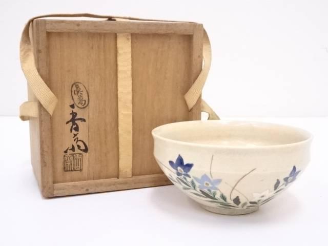 真葛焼 宮川香斎造 色絵桔梗天茶碗
