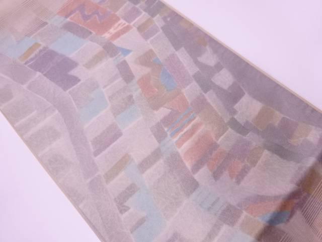 抽象模様袋帯【リサイクル】【中古】