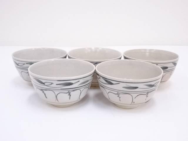 京焼 章造 染付茶碗5客セット