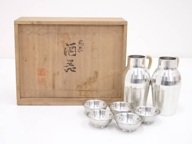 錫半造 錫製酒器セット(424g)