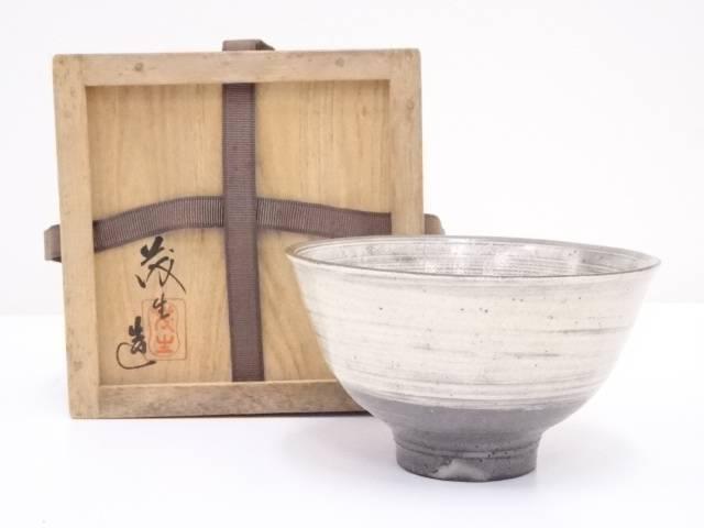 清水茂生造 刷毛目三島茶碗