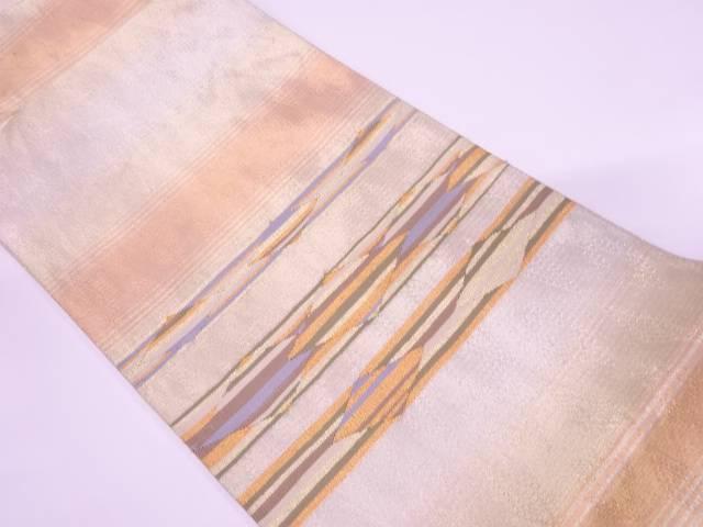横段に抽象模様織出し袋帯 リサイクルGVqUpSzM