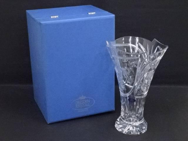 Dresden Kristall ドレスデンクリスタル ガラス花瓶