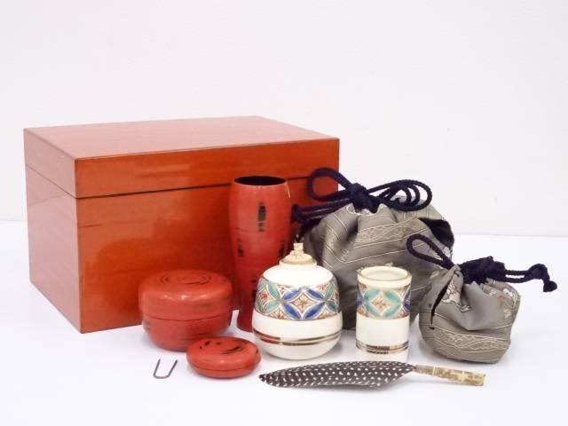 朱漆塗茶箱セット