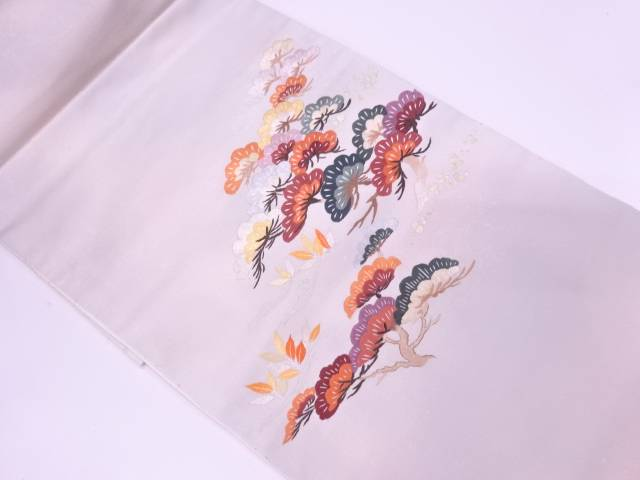 未使用品 蘇州刺繍松模様袋帯【リサイクル】【中古】