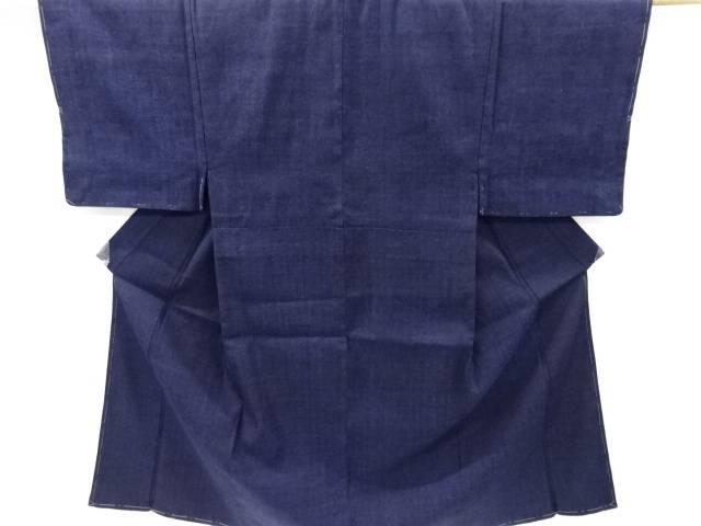 未使用品 手織り真綿紬男物着物アンサンブル・兵児帯セット【リサイクル】【中古】