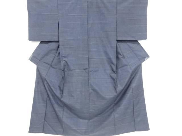 横段織り出し手織り紬着物・道中着アンサンブル【リサイクル】【中古】