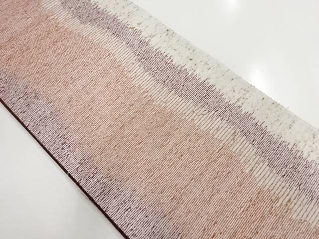 変わり織り横段織り出し袋帯【リサイクル】【中古】