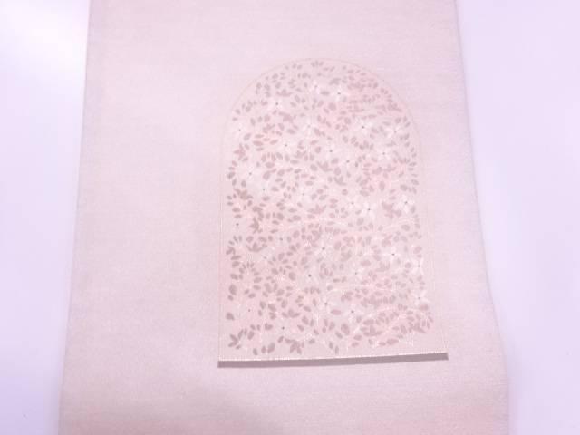草花模様織出し袋帯 リサイクルc4qS5Aj3LR
