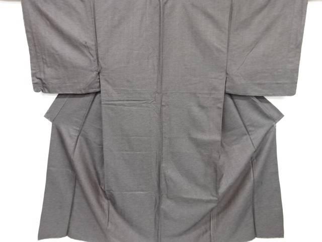 未使用品 仕立て上がり 織り柄手織り真綿紬男物着物アンサンブル 角帯セット(キングサイズ)