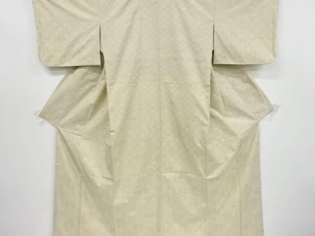 青海波模様織り出し本場大島紬付け下げ着物アンサンブル【リサイクル】【中古】