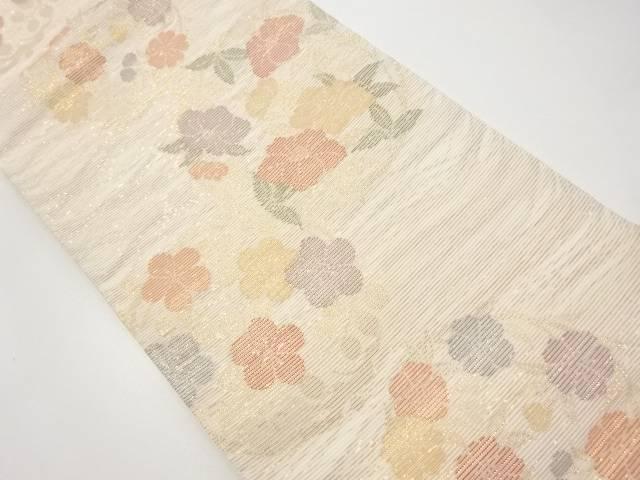 未使用品 絽金糸花丸紋織出袋帯【リサイクル】【中古】