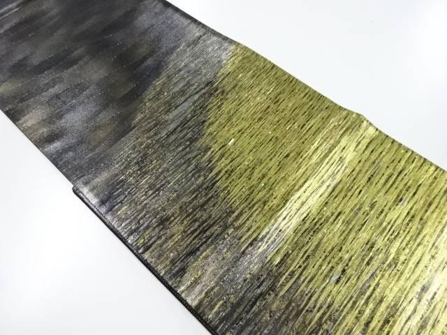 紀州螺鈿水面模様織出袋帯【リサイクル】【中古】
