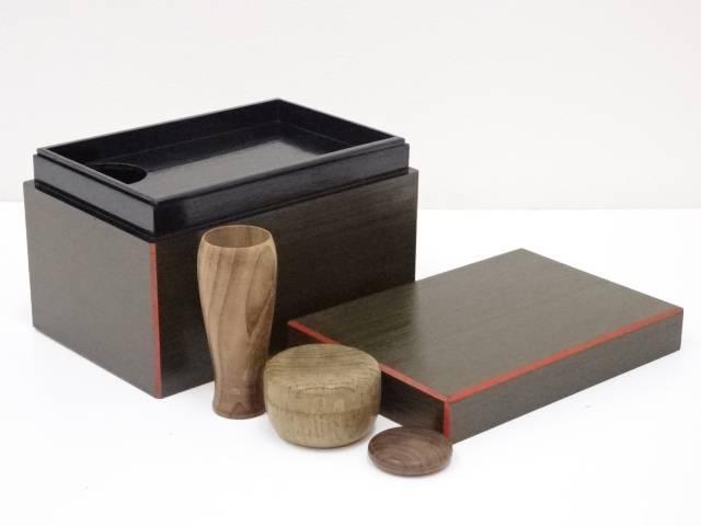 漆塗爪紅茶箱セット
