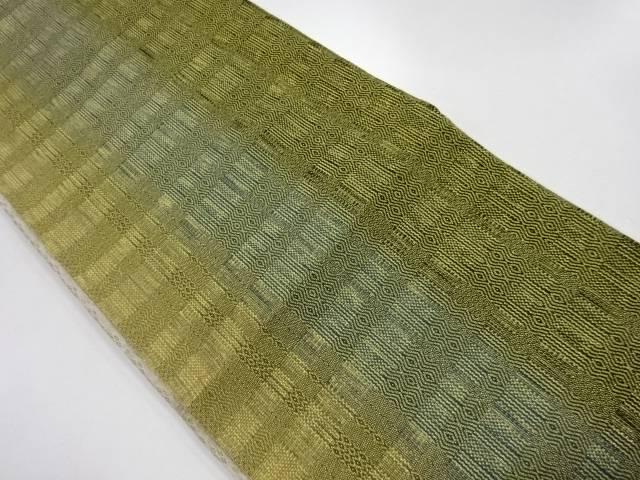 金糸縞模様織出し袋帯【リサイクル】【中古】