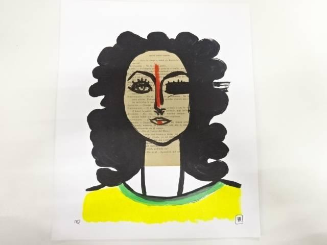 【合計1万円以上の購入で送料無料】  フランソア・アギアル 「tete picasso」 デッサン画(2016)
