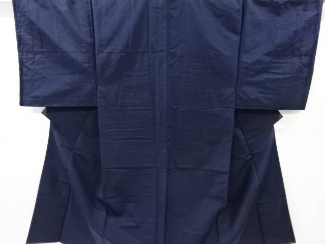 未使用品 手織り紬男物着物アンサンブル・長襦袢セット(キングサイズ)【リサイクル】【中古】