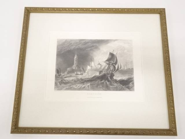 絵画 ジョゼフ・マロード・ウィリアム・ターナー 「ラムズゲート」 銅版画 額装