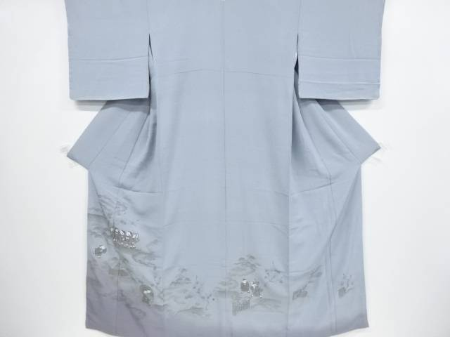 【合計1万円以上の購入で送料無料】  手刺繍童子模様一つ紋色留袖(比翼付き)【リサイクル】【中古】