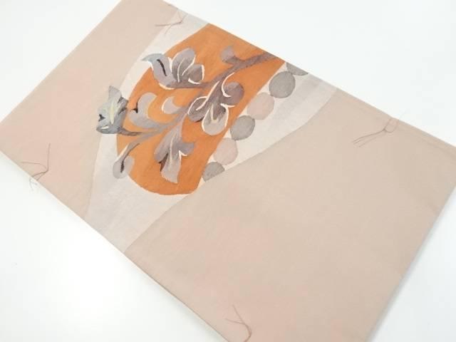未使用品 枝葉模様織り出し袋帯【リサイクル】【中古】