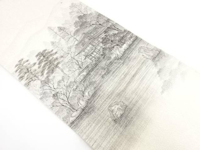 【合計1万円以上の購入で送料無料】  金閣寺風景模様袋帯【リサイクル】【中古】