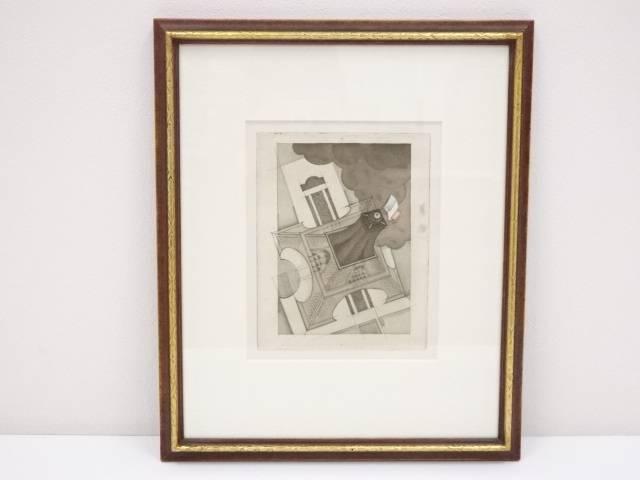 絵画 シャルル・マルタン 「エッフェル塔」 銅版画 額装