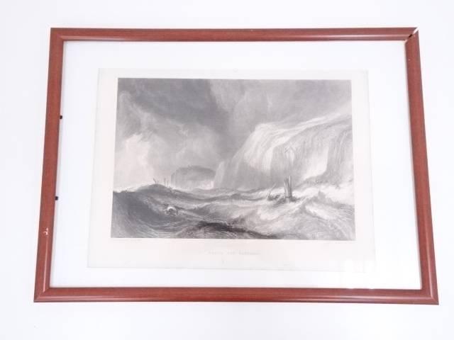 絵画 J.M.W.ターナー 「ヘイスティングスの難破船」 銅版画 額装