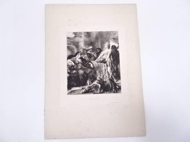 絵画 ヘンリ・レオポルド・レヴィ 「エロディアード」 銅版画