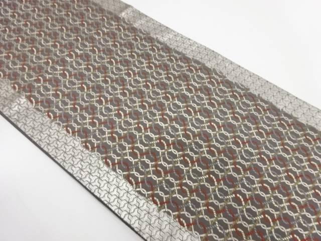 編み目模様織出し袋帯【リサイクル】【中古】