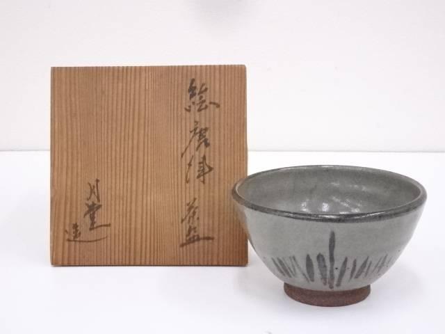 月堂造 絵唐津茶碗