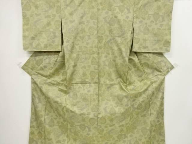 未使用品 流水に松楓模様織出本場大島紬着物【リサイクル】【中古】