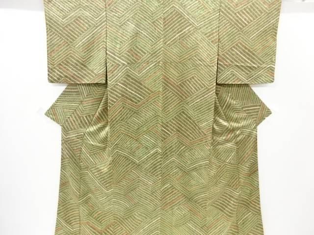 絞り線描き模様小紋着物【リサイクル】【中古】